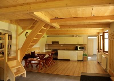 Chalupa Nové Losiny - kuchyně a jídelna