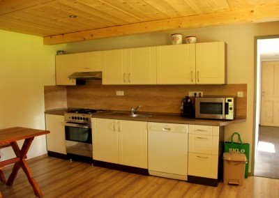Chalupa Nové Losiny - kuchyně