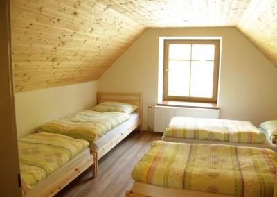 Chalupa Nové Losiny - ložnice 1
